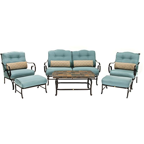 Oceana-6-Piece-Patio-Set-in-Ocean-Blue-with-a-Stone-top-Coffee-Table