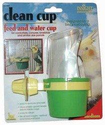 Bird Supplies Insight Clean Cup Hooded Feeder Medium