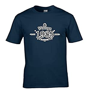 1985 Vintage Year Aged To Perfection Tshirt Mens Small - 5XLarge