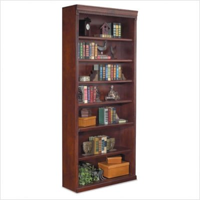 "Kathy Ireland Home by Martin Furniture Huntington Oxford 7-Shelf 84""H Wood Bookcase in Burnish"
