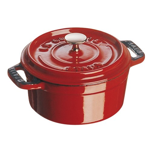 le creuset cookware set reviews staub mini round cocotte 25 quart 3 7 8 inch pimento red. Black Bedroom Furniture Sets. Home Design Ideas