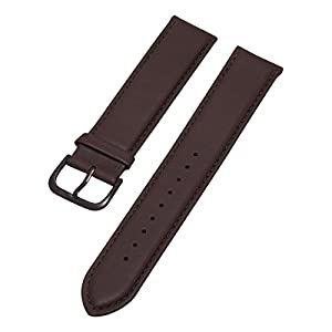 Stuhrling Original Mens 20mm brown flat leather strap with black tang buckle st.768.03