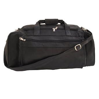 Piel Leather Large Duffel Bag, Black, One Size
