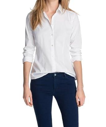 Esprit - blouse - coupe droite - femme - blanc -  FR : 44 (Taille Fabricant : 42)