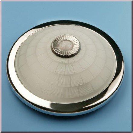 Deckenleuchte chrom, Deckenlampe mit Bewegungsmelder, 360° Sensor, 0,45W, VDE, 2 Jahre Gewährleistung