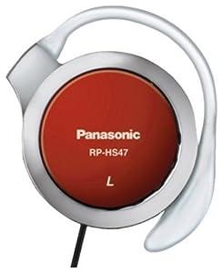 Panasonic Casque clip oreille ultra fin 14Hz 24kHz 30mm rouge