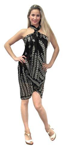 La Leela Black White Printed Sarong