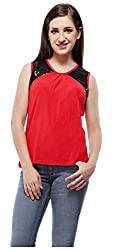 Peptrends Women's Top (TO15087RD_M, Red, M)