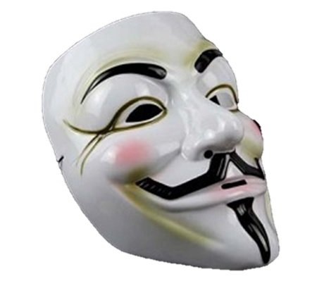 V for Vendetta Mask / アノニマス/ガイ・フォークス 仮面 マスク pvc ホワイト