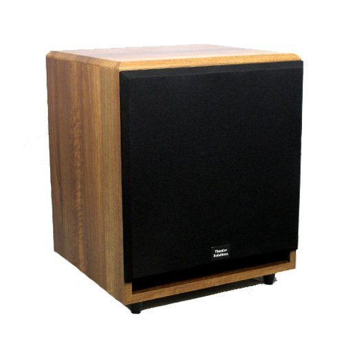 Theater Solutions SUB12FM Front Firing Powered Subwoofer (Mahogany)