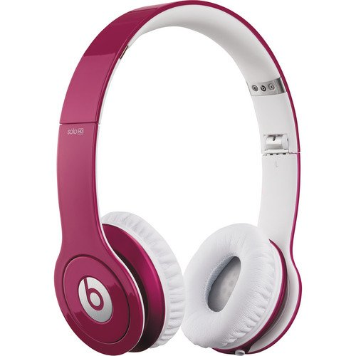 Beats By Dr. Dre Solo Hd Naturally Noise Isolating On-Ear Headphones (Bubble Gum Pink)