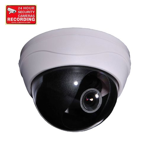 Videosecu Dome Surveillance Security Camera Color Ccd Cctv Home Video Zoom 420Tvl 4-9Mm Varifocal Lens With Security Warning Sticker Dm38 1Yz