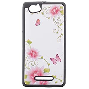 R- safe Printed Back Cover for Sony experia M C1904/C1905-Floral Design(Pink)