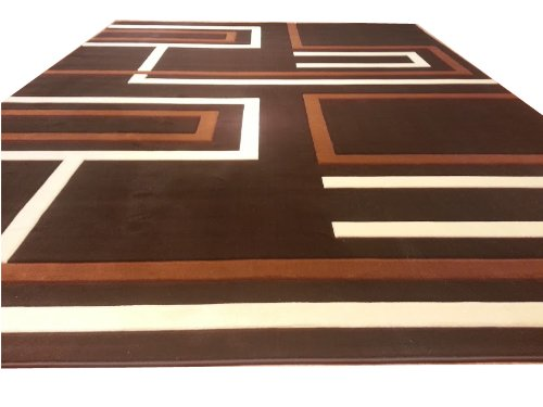 Contempora ry Modern Jagged Line Pattern Brown Hand Carved 10x13 13ft Rug Carpet Free Shipping