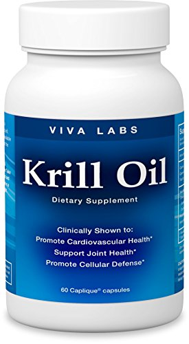 Viva Labs Krill Oil, 1250mg/serving, 60 Capliques