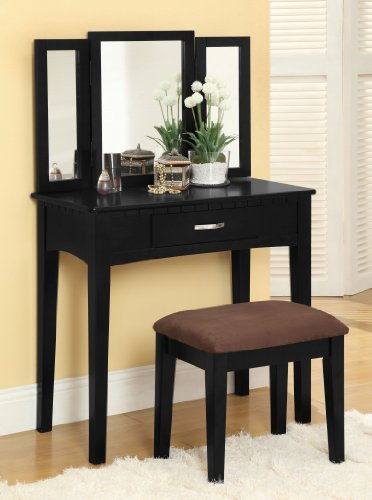 Black Bedroom Furniture Sets 6971 front