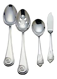 Reed & Barton Sea Shells 18/10 Stainless Steel 4-Piece Flatware Hostess Set by Reed & Barton