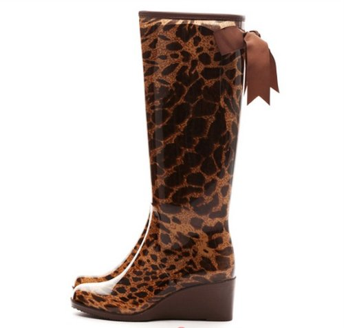 2013 Free Shipping AICCO womens' YX008 Fashion Wedge Rain Boots, Synthetic