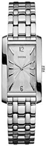 Guess Women's W75040L1 Silver Stainless-Steel Quartz Watch with Silver Dial