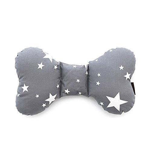 Head & Neck Support Baby Pillow Organic Cotton, Best Headrest for Car Seat, Stroller for Infant, Babies & Toddler (StarDream Gray) (Infant Head Insert compare prices)