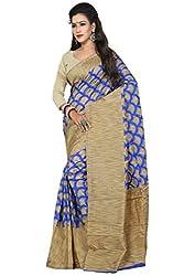 Sanju Smart Blue Art Silk Traditional Wear Saree for Women