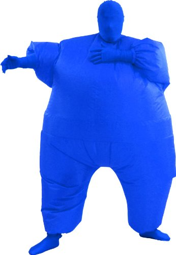 Inflatable Chub Suit Costume: Blue