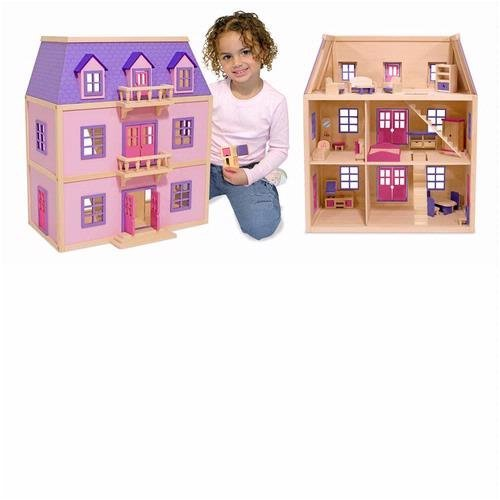 Multi-Level Wood Dollhouse
