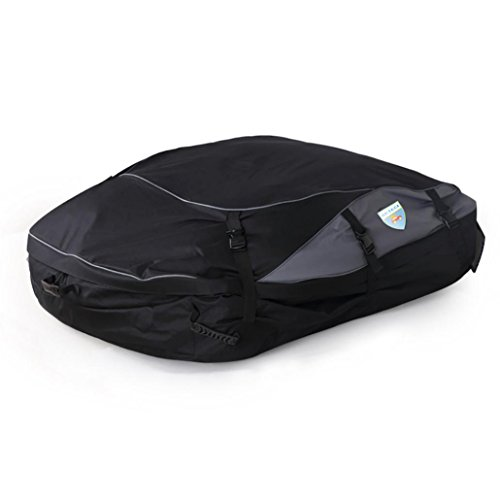 Balakie【Car Top Carrier】Nylon Soft-Sided Waterproof Roof Top Cargo Bag, Vehicles Bandage buggy bag for Any Car Van Suv (L) (Hard Top Luggage Rack compare prices)