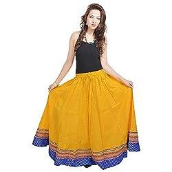 Prateek Retail Yellow Designer Skirt