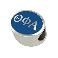 Theta Phi Alpha Enamel Sorority Bead Charm Fits Most European Style Bracelets. High Quality Bead in Stock for Fast Shipping