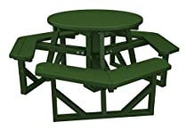 "Hot Sale POLYWOOD PH36GR Park 36"" Round Picnic Table, Green"