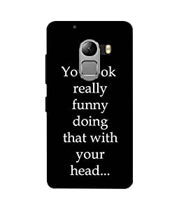 Crazymonk Premium Digital Printed 3D Back Cover For Lenovo K4 Note