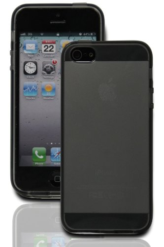 Best Price LUVVITT® FROST Soft Slim Clear TPU Rubber Case / Back Cover for iPhone 5 / 5S (LIFETIME WARRANTY) - Transparent Black