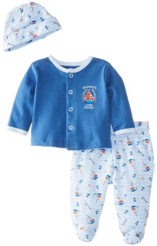 Vitamins Baby Baby-Boys Newborn Mommy'S Little Anchor Pack Cardigan Pant Set, Blue, 3 Months front-898160