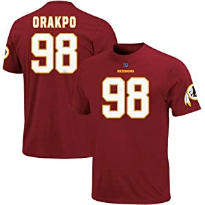 Brian Orakpo Burgundy #98 Washington Redskins Eligible Receiver Name & Number T-Shirt from VF Imagewear