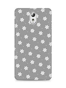 Amez designer printed 3d premium high quality back case cover for Lenovo Vibe P1M (simple grey stars)