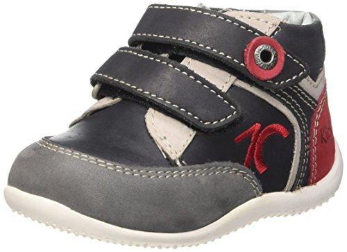 kickers-baxter-chaussures-premiers-pas-bebe-garcon-noir-noir-gris-rouge-23-eu