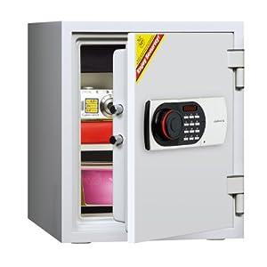 ディプロマット デジタルテンキー式耐火金庫 オフホワイト 125EN88