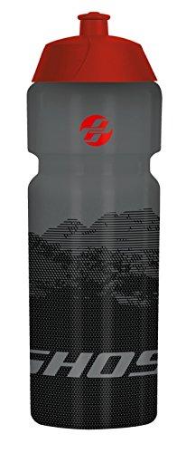 Ghost-Water Bottle Titanium Gray/Night Black/Riot red-Borraccia, 750ml