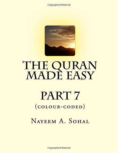 The Quran Made Easy (colour-coded) - Part 7 (Volume 7) (Islam Made Easy compare prices)