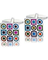 Multi Colour with Patterns Fashion Cufflinks, Model 9189