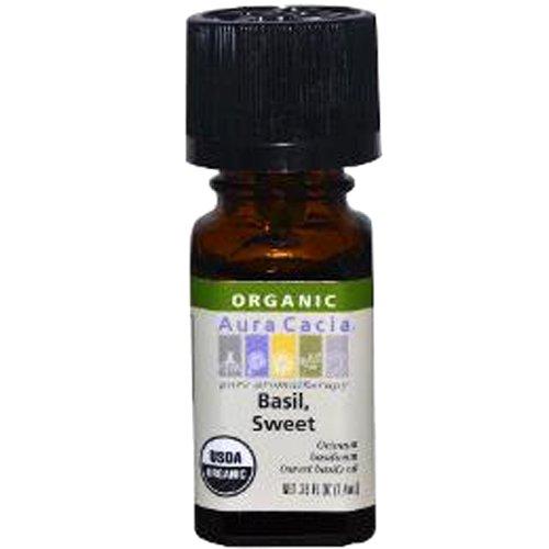 Aura Cacia Organic, Basil Sweet, 0.25 Fluid Ounce