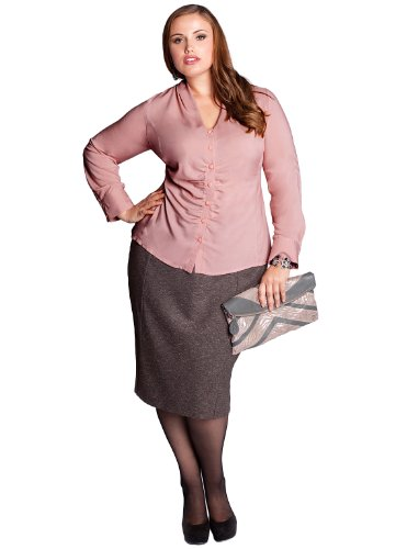 Buy IGIGI by Yuliya Raquel Plus Size Tierney Blouse in Dusty Rose