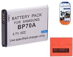 BP-70A, BP70A Battery for Samsung DV150F, ES65, ES70, ES80, MV800, PL120, PL170, PL20, PL200, PL80, SL50, SL600, SL605, SL630, ST65, ST66, ST80, ST90, ST95, ST100, ST150F, ST700, TL105, TL110, TL205, WB30F, WB35F, WB50F Digital Camera + More!!