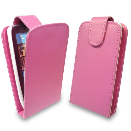 StyleBitz / Nokia Lumia 610 / stilvolle rosa Flip fall / neu