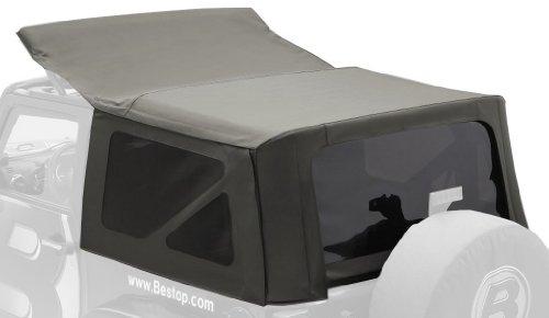 Bestop 79142-36 Khaki Diamond Sailcloth Replace-A-Top Soft Top With Tinted Windows; No Door Skins Included For 2010 Wrangler Jk 2-Door (Cable Top Design)