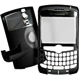 [Aftermarket Product] Black Housing Faceplate Fascia Plate Panel Cover Case+Battery Back Door Repair Replace Replacement For BlackBerry Curve 8300 8310 8320