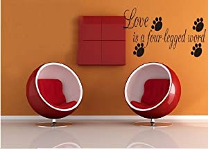 OneHouse Love is A Four Legged Word with Four Black Footprint Home Art Decoration from OneHouse