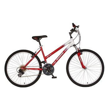 Mantis Ladies Raptor Mountain Bike (White/Red, 26 X 17-Inch)