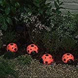 Smart Solar/Smart Solar 3656MRM4 Ladybug Solar Light Set. 4 pack. Red